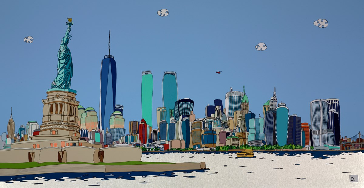 The Statue of Liberty by dylan izaak -  sized 50x26 inches. Available from Whitewall Galleries